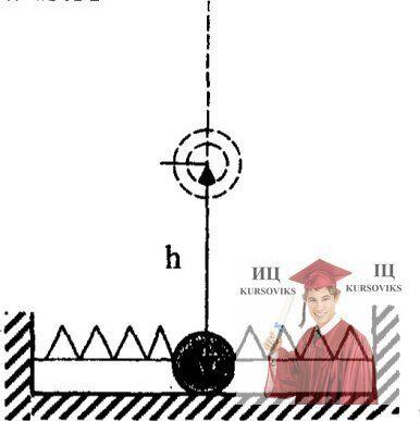 МР44, Рис. 13.17 – Шарик поднимают вертикально на высоту h = 30 см и отпускают