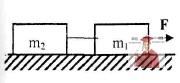 МР34, Рис. 3.1 - Два груза связаны нитью и лежат на гладкой горизонтальной поверхности