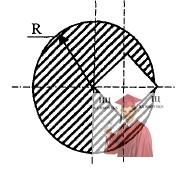 МР40, Рис. 9.1 - Из однородной круглой пластины радиусом R вырезали квадрат
