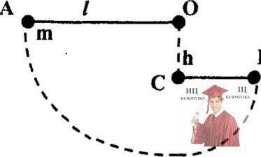 МР35, Рис. 4.9 - Шарик массой m, висящий на нити длиной l