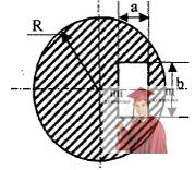 МР40, Рис. 9.2 - В однородном круглом диске радиуса R вырезано отверстие
