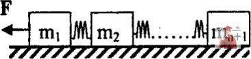 МР34, Рис. 3.24 - (n+l) одинаковых грузов массой m каждый соединены друг с другом