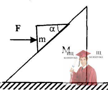 МР33, Рис. 2.4 - Призма массы М с углом наклона α