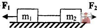 МР34, Рис. 3.20 - Два связанных невесомой и нерастяжимой нитью груза