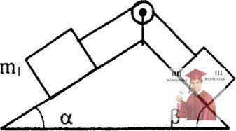 МР34, Рис. 3.32 - Два кубика, находящиеся на наклонных плоскостях