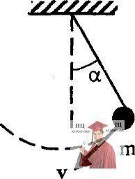 МР35, Рис. 4.5 - Математический маятник имеет массу m и длину l