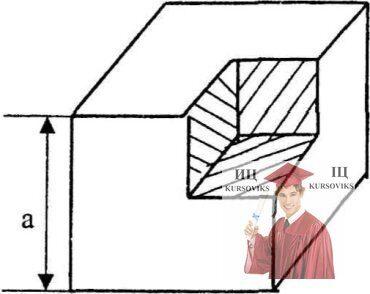 МР40, Рис. 9.8 - Определите центр тяжести однородного куба